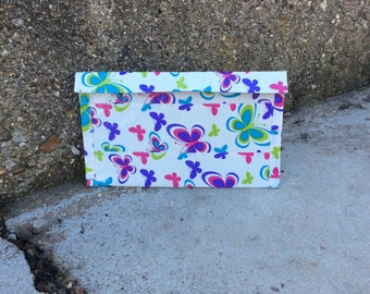 Butterfly Ducttape Coupon/Receipt Holder