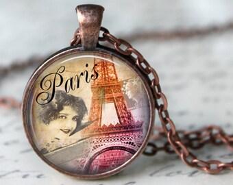 PARIS JE T'Aime Necklace Eiffel Tower Necklace Pendant Poem Love Glass Pendant Romantic Parisian Gift for LoverJewerly  (102)