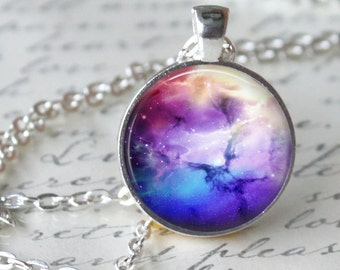 NEBULA Necklace Pendant Astronmy Space Omega Jewerly Carina Galaxy Universe Orion Geekery Necklace Handmade heaven pendant necklace