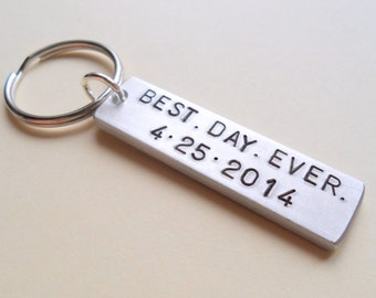 Wedding Anniversary Keychain, Couples Keychain Gift, Customized Keychain, Personalized, Husband Wife Gift, Boyfriend Girlfriend Gift, GPS