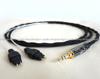 Silver cable for Sennheiser HD650 HD600 headphones