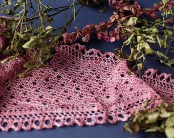 knit shawl, lace shawl, hand knitted shawl, shawl wrap,  pink shawl. Ready to ship