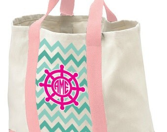 Monogrammed Tote, Beach Bag, Personalzed Tote Bag, Birthday Gift Bag, Bridal Shower Tote Gift