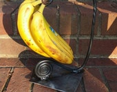 Blacksmith Forged Banana Hanger-Spiral Base