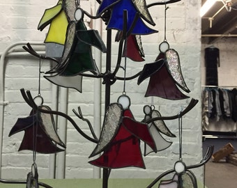 Hand-Crafted, Stained Glass Angel Ornaments by Krista