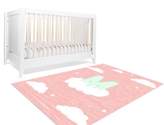 Cloud Nursery, Cloud Rug, Monogram rug, Monogram Decor, Monogram Decoration, Girl Nursery Decor, Kids Playroom Decor, Girl Room Decorations