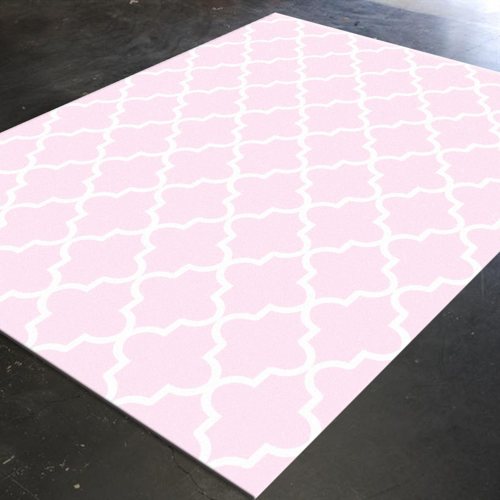 Trellis Rug Pink Decor Pink Rug Light Pink Decor By