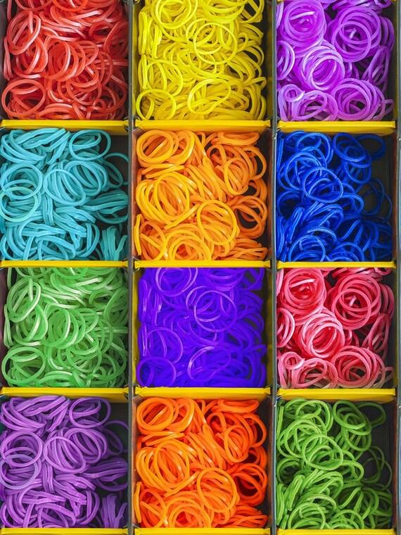 Elastic Bands Loom Bands Print Digital Cotton By