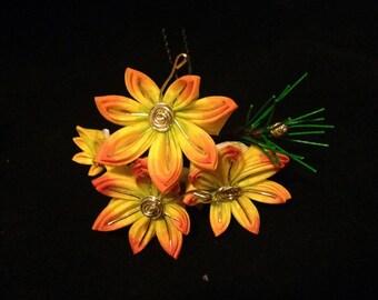Maiko Kanzashi set Maple leaf Pine needles November Motif