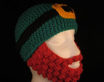 St Patrics Day hat with beard, prices vary according to size, please see the full listing