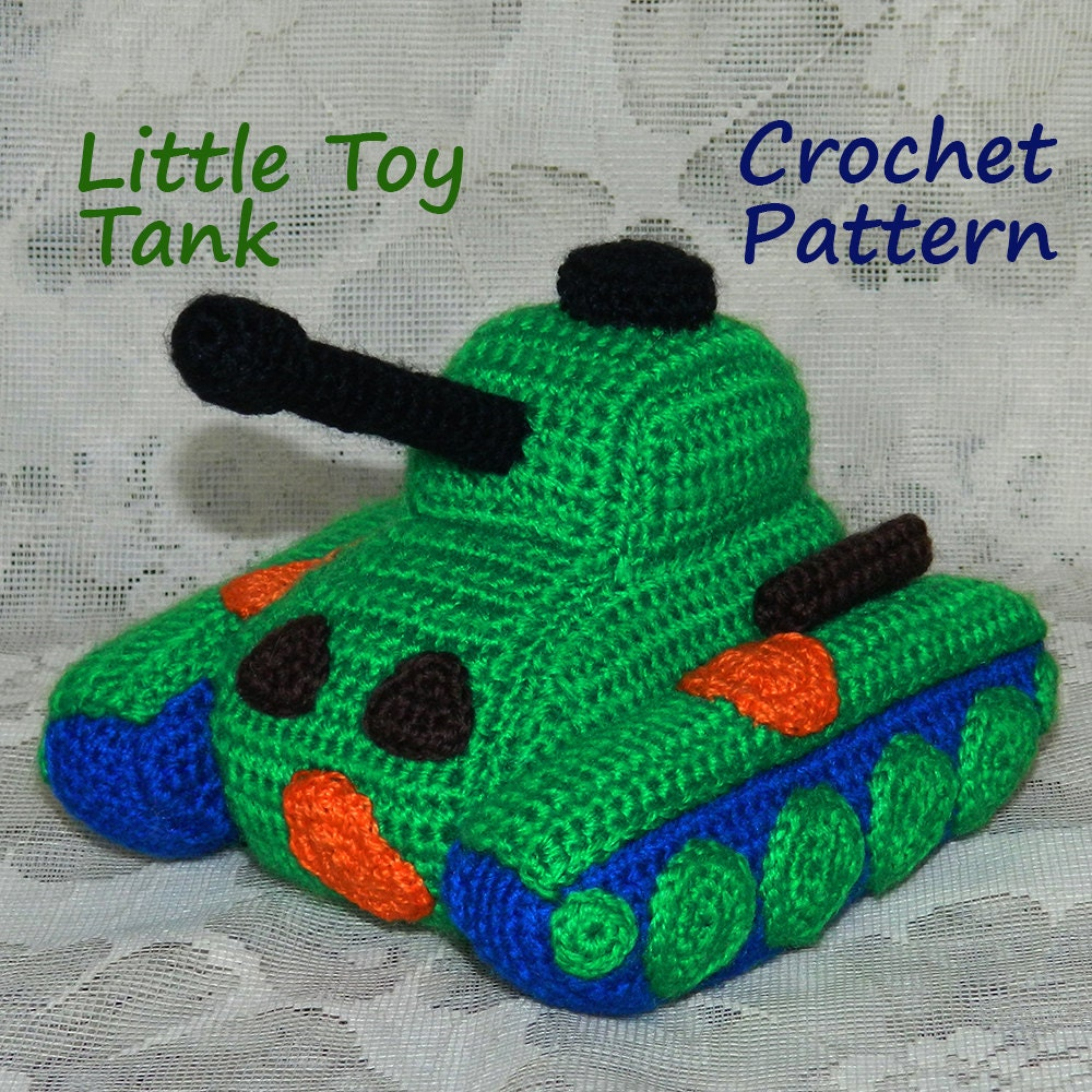 Beginner Crochet Toy Patterns : Amigurumi Pattern. Little Toy Panzer Tank. Crochet Tank.
