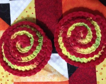 Set of 2 crocheted dish scrubbies