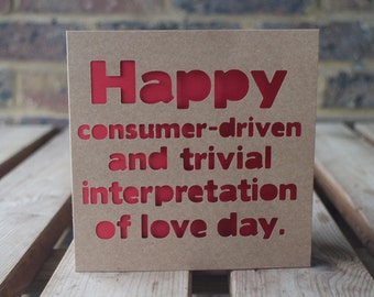 Happy consumer-driven love day card
