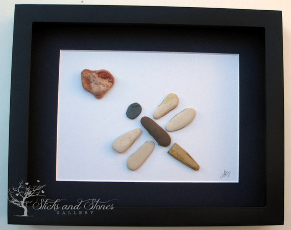 Pebble art dragonfly unique gifts for he stone art by Unusual new home gifts