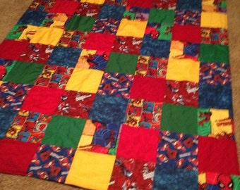 Spiderman Boys Twin Patchwork Quilt New Super Hero Blanket