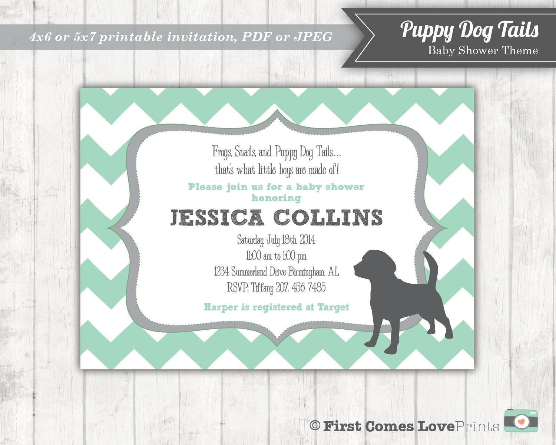 puppy shower invitations - 28 images - handsome puppy baby boy ...