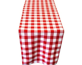Picnic Checkered Polyester Table Runner