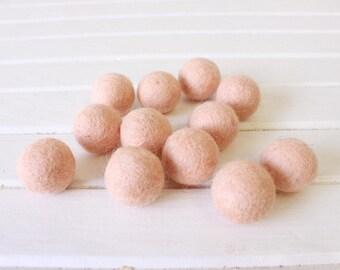 Peach Felt Balls 12 count