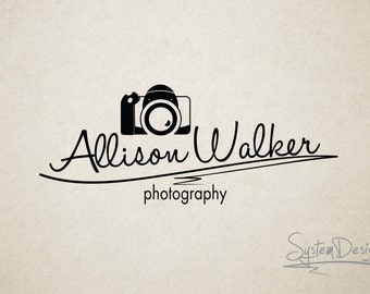 Camera logo. Premade logo. Photographers logo. Watermark