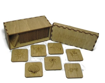 Memory Wooden Tile Game - Hand-Stained Birch