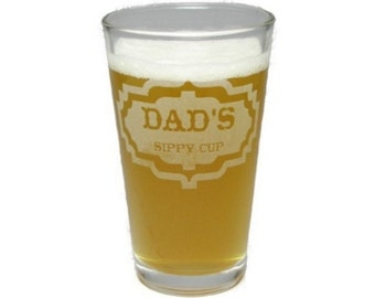 Personalize Your Own Sippy Cup - Engraved Beer Glass - 16 oz - Permanently Etched - Fun & Unique Gift!