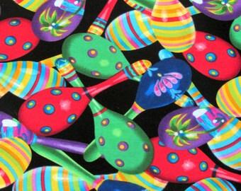 Per Yard, Fiesta Maracas Fabric From Benartex