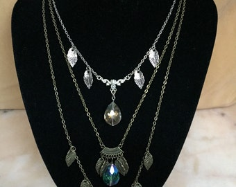 "Necklace ""Crystal lights"""