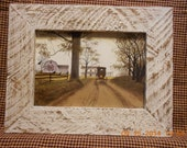 "Billy Jcobs ""Heading Home"" Print in Rough cut Barn wood frame"