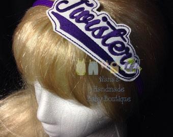Twisters - Team Headband Slip On  - DIGITAL EMBROIDERY DESIGN