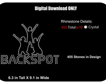 Rhinestone Transfer Template Pattern Cheerleading Bling - Backspot -  Rhinestone Transfer Template-Pattern - Sticky Flock Template