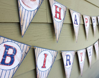 CUSTOM Vintage Baseball Party Banner Sign Digital or Physical