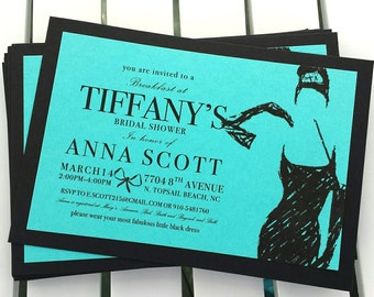 Breakfast at Tiffany's Party Invite - Personalized Printable