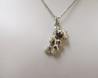 Swarovski Teddy Bear Necklace Item W-#622