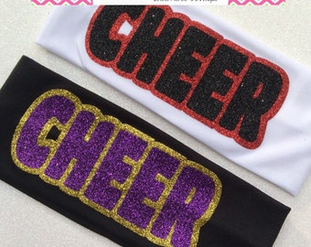 CHEER headbands - pick your colors