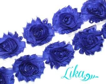 Royal Shabby Rose Trim - Shabby Flower trim - Shabby Flower - Chiffon Trim - Wholesale Trim - Shabby Chic - Rose Trim - 1/2 or 1 Yard Shabby