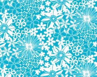 1/2 Yard - The Linen Cupboard - TE 2022 A - Grace Aqua - Emma Jean Jansen - Ella Blue Fabrics - Fabric Yardage