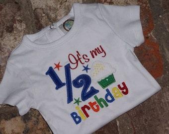 Boy 1/2 Birthday Onesie