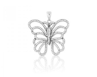 Butterfly Pendant in 925 Sterling Silver