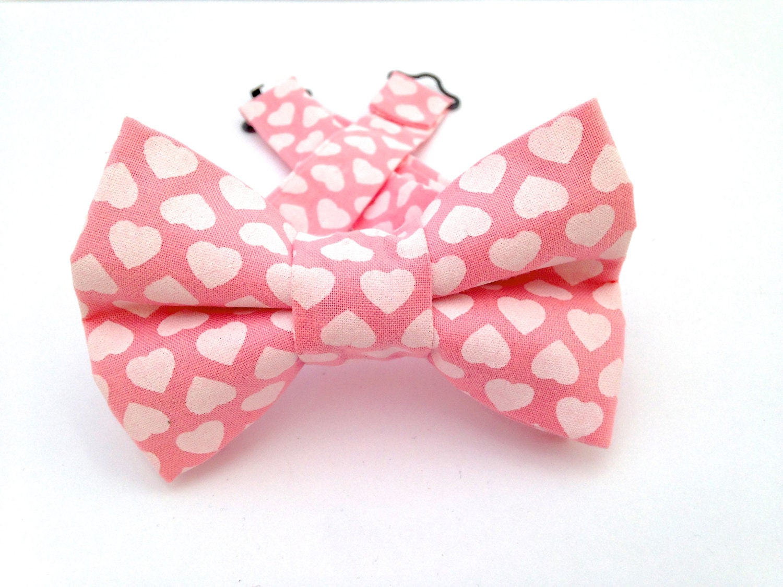 Pink heart Bow Tie Adjustable Bow Tie Valentine Bow Tie