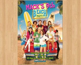 Teen Beach Movie Invitation, Teen Beach 2 Invitation, Printable Teen Beach Movie Party Invite, Teen Beach Movie Birthday Invitation, Custom
