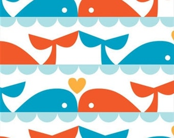 Whale Love from Marine Too by Dan Stiles for Birch Fabrics