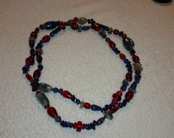 Vintage Multi Colored Beaded Necklace