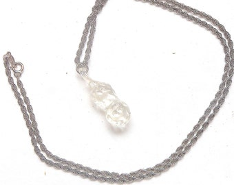 Beautiful Silver long chain with decorative Crystal Peanut Costume Jewelry made to last