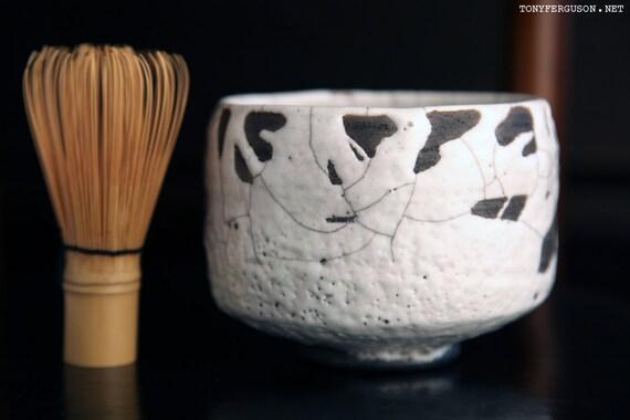 Chawan Matcha Green Tea Bowl Ferguson White Raku 茶碗