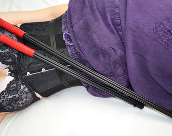 "Goth Cane Whip - 20"" of Evil Whipping in one handle - BDSM Spanking Toy"