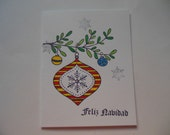Feliz Navidad Christmas Card, Spanish Christmas Card, Spanish Holiday Card