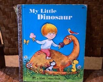 Vintage Little Golden Book 1971, My Little Dinosaur
