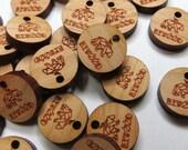 50 - 0.5 x 0.5 Custom Wood Tags - Custom Jewelry Tags - Jewelry Blanks