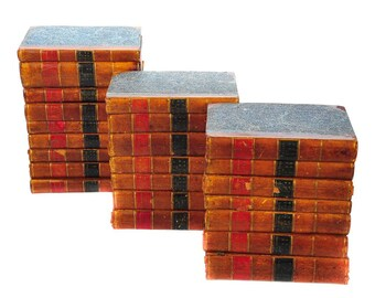 18th c. English Parliamentary Register-set of 23 Leather Bounds Volumes