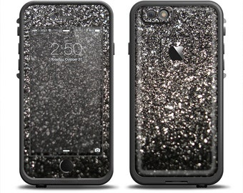 The Black Unfocused Sparkle Apple iPhone 6 LifeProof Fre Case Skin Set (Other Models Available!)